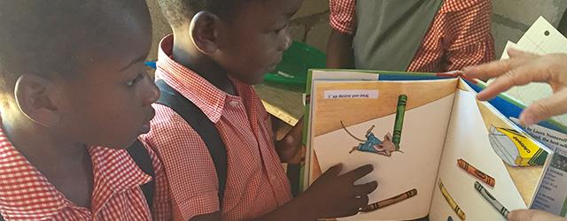 Haitian Children Reading Books