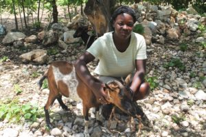 Lafond Woman with Goat