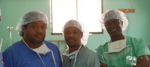 Dr. McGlynn with his medical team (Feb. 2017)